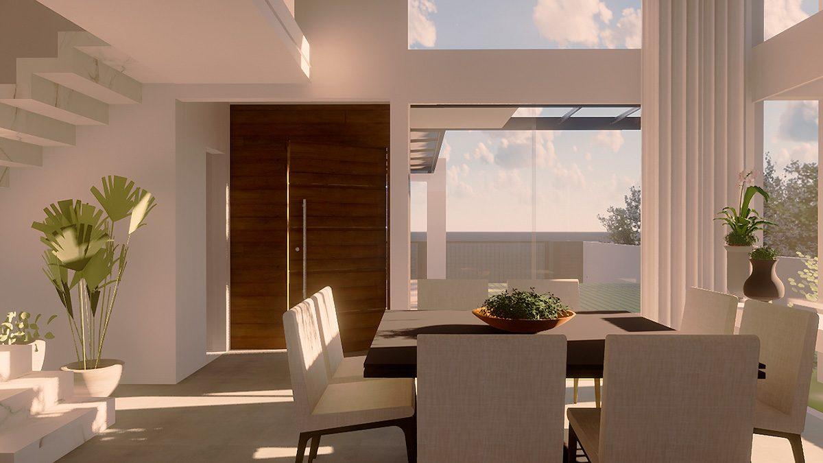 casa com aberturas para o leste, com o sol da manhã. Projeto: Montanari Arquitetura (Arq. Ketlin Montanari)